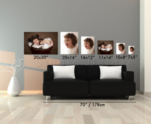 Photo printing poster size